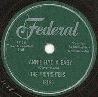 """Annie Had a Baby"" by Hank Ballard & The Midnighters"