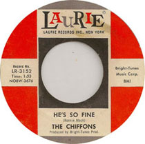 45 single of He's So Fine by The Chiffons