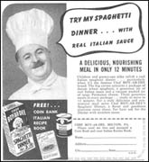 An Ad for Chef Boyardee Spaghetti