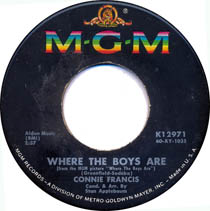 """Where the Boys Are"" by Connie Francis"