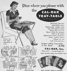 Vintage TV Tray-Table ad