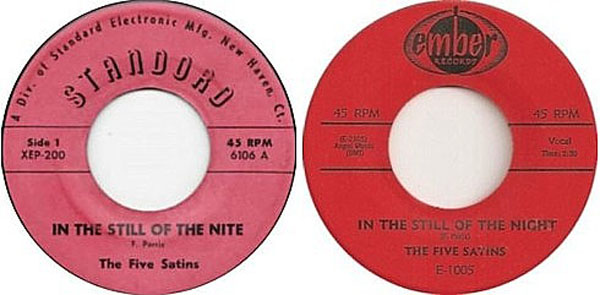 The Five Satins In The Still of the Nite