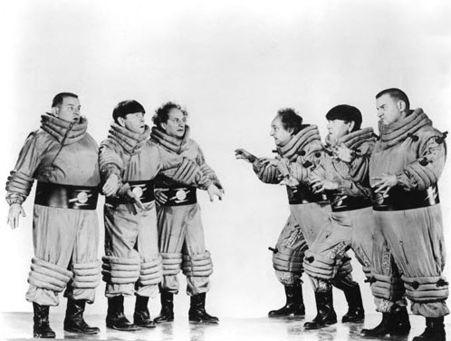 The Three Stooges in Have Rocket Will Travel