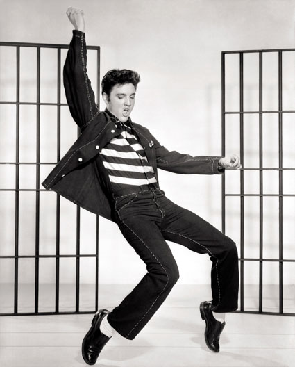 Elvis Presley dancing in Jailhouse Rock