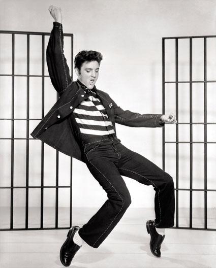 Elvis Presley dancing in Jailhouse Rock