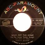 """Barry Mann's """"Who Put the Bomp (In the Bomp, Bomp, Bomp)"""""""