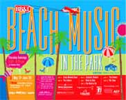 Sample poster advertising Beach Music