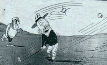 President Dwight Eisenhower sees Sputnik on the Golf Course (cartoon)