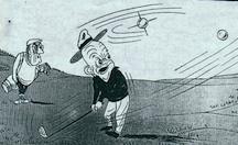 President Dwight Eisenhower sees Sputnik on the Golf Course (cartoon)