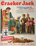 Cracker Jack advertisement with children trick or treating