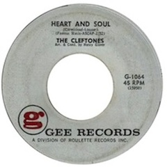 """Heart and Soul"" by The Cleftones"
