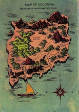 Map of Colassa from The 7th Voyage of Sinbad comic book