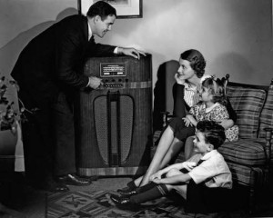 Fig. 1 The radio as furniture in the family home.