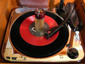 Fig. 6 Attachment for 45 rpm records.