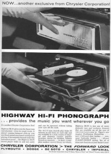 Fig. 8 In-car record player.