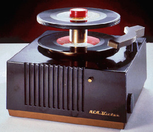 Fig. 9 45 rpm only record player.