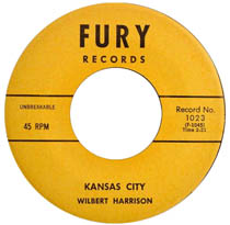 Kansas City song performed by Wilbert Harrison, a rock and roll hit in 1959