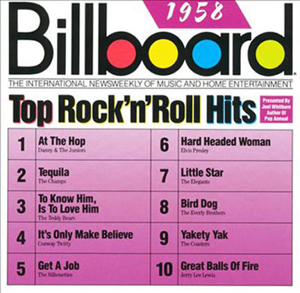 Billboard Top Rock n Roll Hits 1958