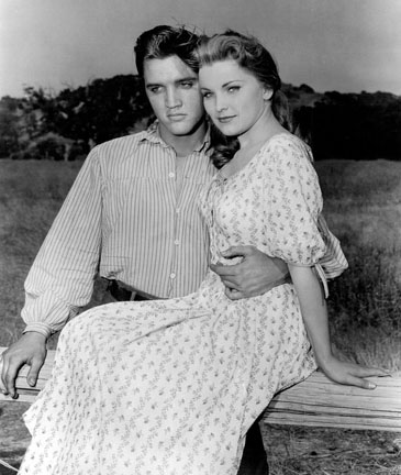 Elvis Presley and Debra Paget in Love MeTender