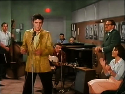 Elvis Presley in Jailhouse Rock singing Treat Me Nice